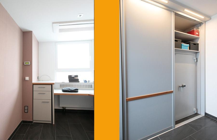 B rosystem mit schr nken und tischplatten fb tischlerei for Design tischplatten